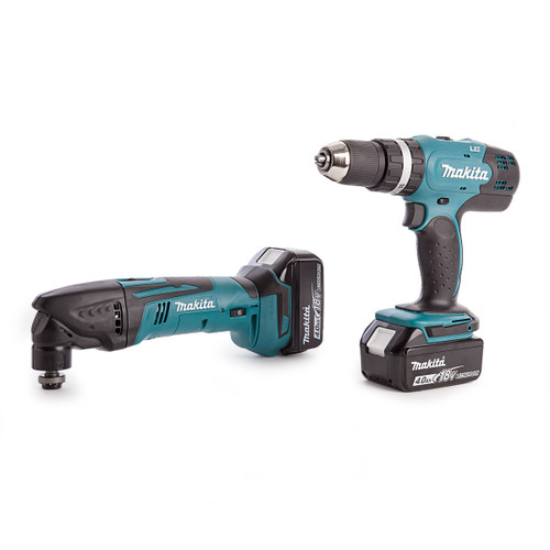 Makita DHP453Z Combil + DTM50Z Multicutter + Charger + Toolbag 2 x 4.0 Batts - 3