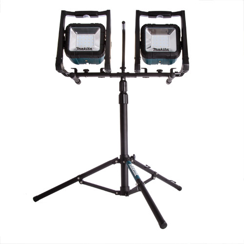 2 x Makita DML805 Corded and Cordless LED Worklights 240V + Tripod Stand + Clamp - 8