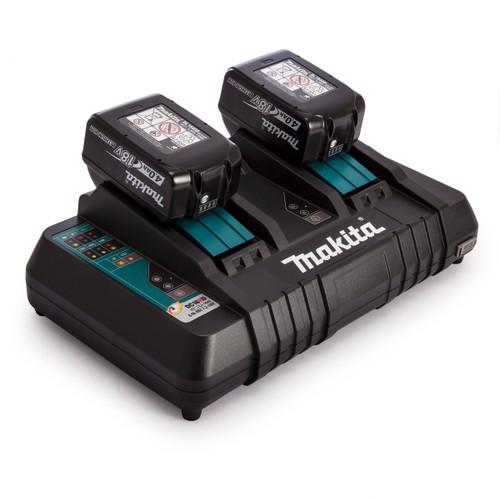 Makita DC18RD 18V Twin Charger + 2 x BL1840 4.0Ah Batteries
