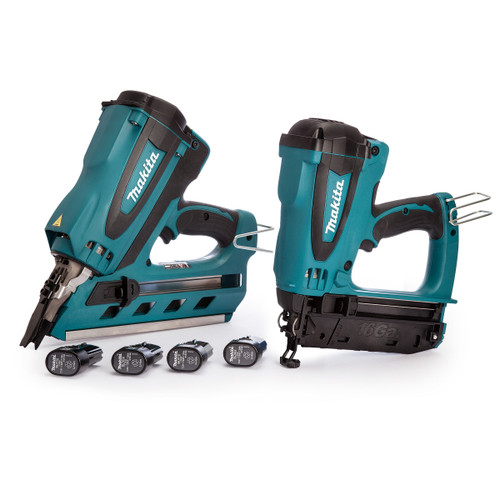 Makita 7.2V Twin Pack - GN900SE 1st Fix Framing Nailer + GF600SE 2nd Fix Finishing Nailer (4 x 1.0Ah Batteries) - 3