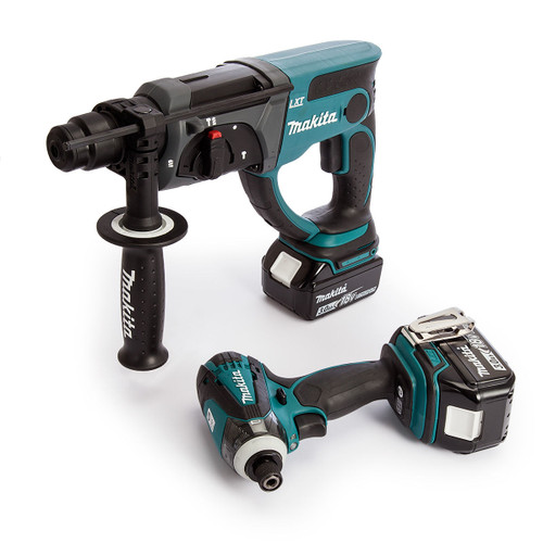 Makita 18V Twin Pack - DHR202Z SDS Plus Rotary Hammer + DTD146Z Impact Driver (2 x 3.0Ah Batteries) - 4