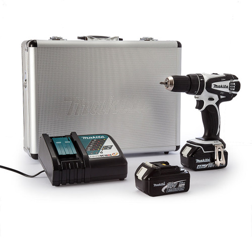 Makita DHP456RMWX 18V White Cordless Combi Drill (1 x 4.0Ah & 1 x 3.0Ah Batteries) - 6