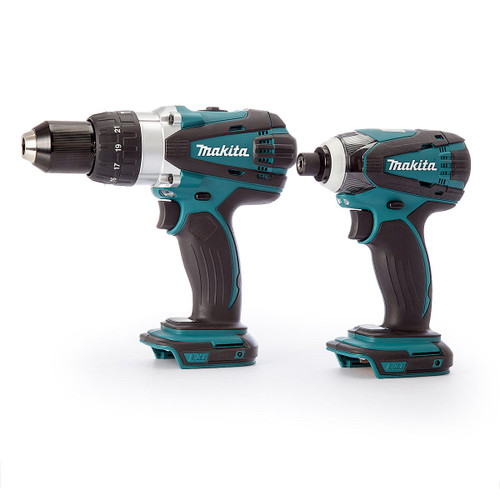Makita 18V Twin Pack - DHP458Z Combi Drill + DTD146Z Impact Driver (Body Only) - 3