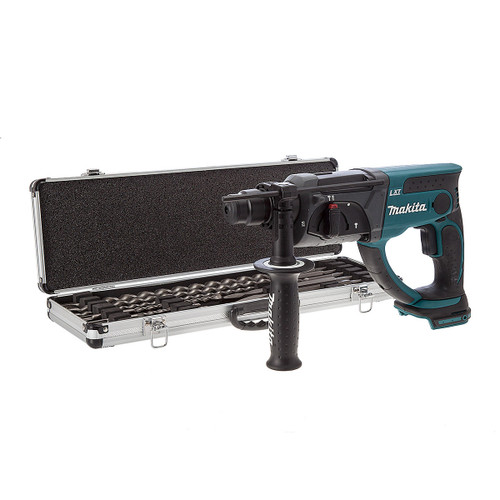 Makita DHR202Z 18V SDS Drill (Body Only) with D-21191 10 Piece Drill & Chisel Set - 5