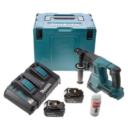 Makita DHR264ZJ 36V SDS Drill (2 x 5.0Ah Batteries) - 5