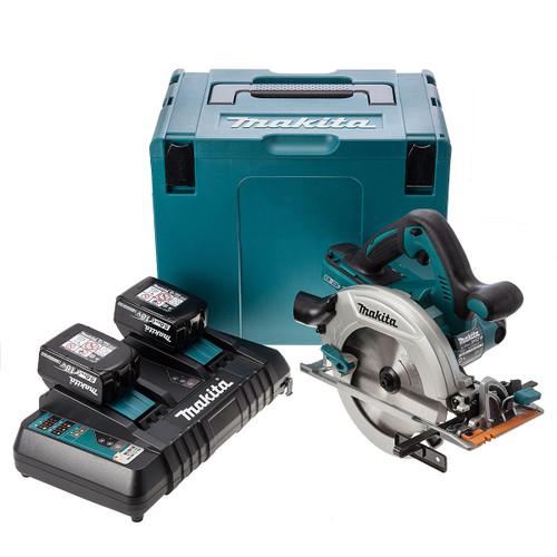 Makita DHS710ZJ 36V Circular Saw (2 x 5.0Ah Batteries) Accepts 2 x 18V Batteries - 5