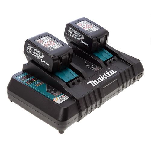 Makita DC18RD Twin Charger + 2 x BL1830B 18V 3.0Ah Batteries - 3