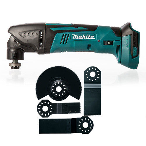 Makita DTM50Z LXT 18V Multicutter (Body Only) + B-30623 Plunge Cut Blades (Pack of 4) - 5