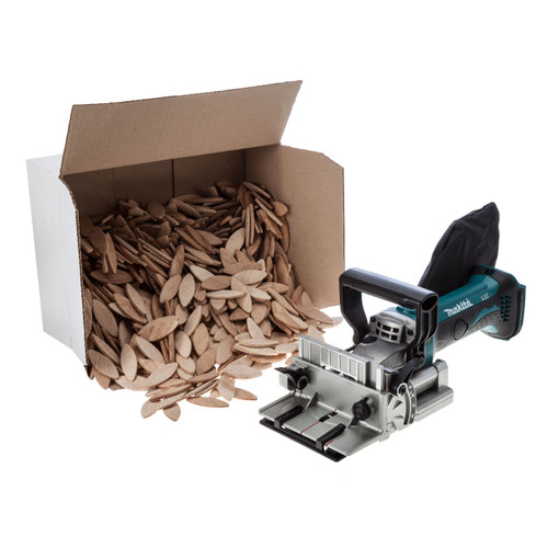 Buy Makita DPJ180Z 18V Cordless li-ion Biscuit Jointer (Body Only) + 1000 Biscuits at Toolstop