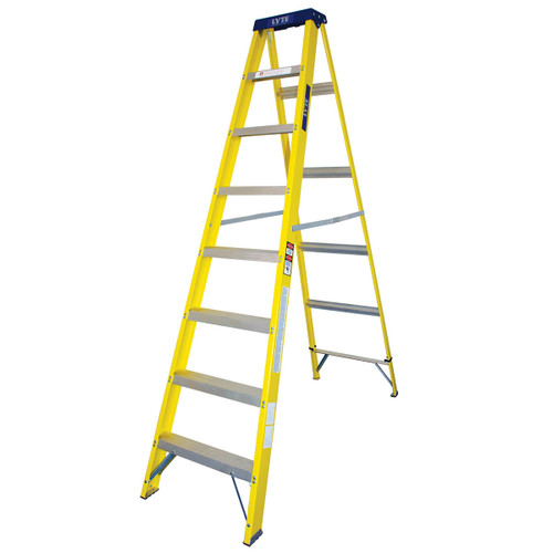 Lyte GFHS8 Trade Glassfibre Swingback Stepladder - 8 Tread - 1