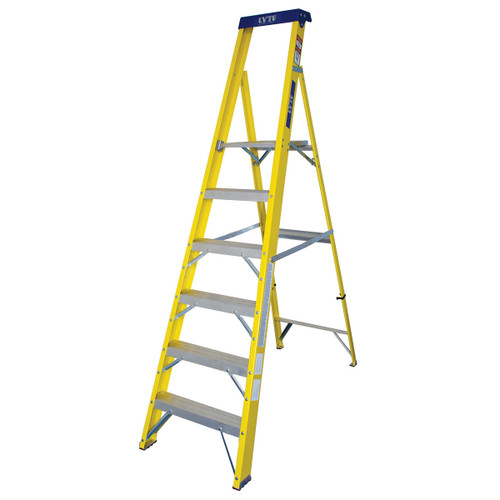 Buy Lyte GFHP6 Trade Glassfibre Platform Stepladder - 6 Tread at Toolstop
