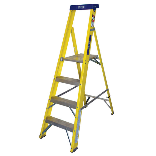 Buy Lyte GFHP4 Trade Glassfibre Platform Stepladder - 4 Tread at Toolstop