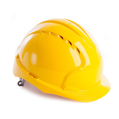 JSP AJF030 EVO2 Safety Helmet with Slip Ratchet - Vented - Yellow - 1