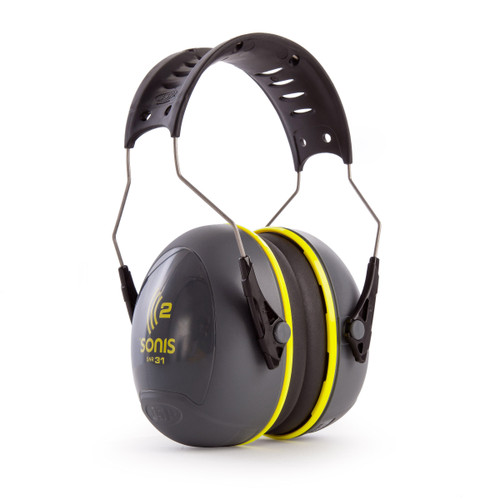 JSP AEB020-0AY-900 Sonis 2 Ear Defenders With Over Moulded Headband - Dark Grey - SNR31 - 3