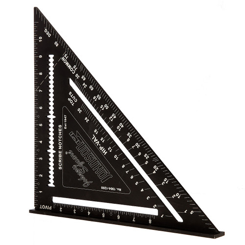 Johnson JL1904-1200 Johnny Square Professional Aluminum Rafter Angle Square 12in - 2