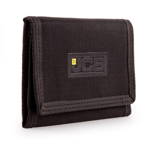 JCB W1 Nylon Weave Bi-Fold Wallet in Black - 3