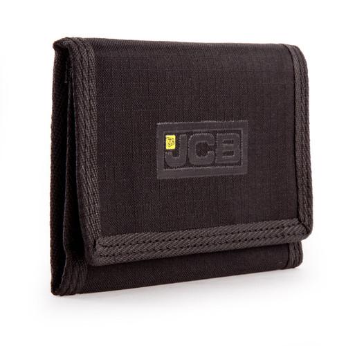 JCB W1 Nylon Weave Bi-Fold Wallet in Black - 3