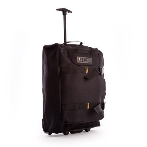 JCB 14 - 55cm Nylon Weave Cabin Bag in Black with Telescopic Handle, Wheels and Hard Base 35.7 Litre - 7