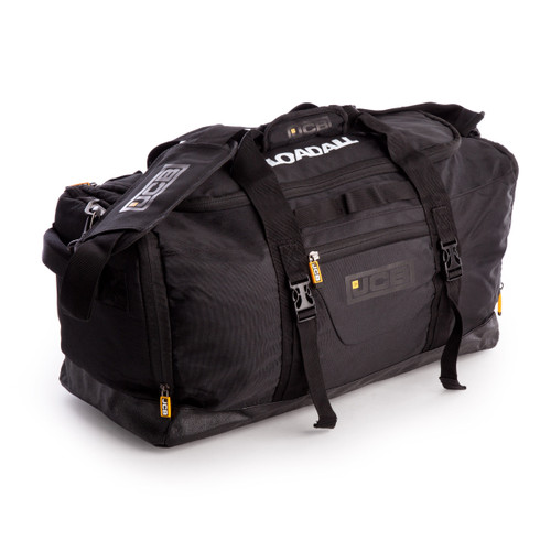 JCB 004L Nylon Weave Multi-Pocket Holdall in Black with Shoulder Strap 49.5 Litre - 6