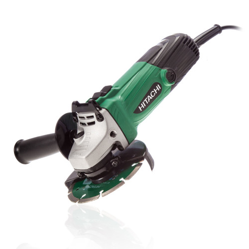 "Hitachi G12SS/CD 115mm 4-1/2"" Angle Grinder with Case & Diamond Blade (240V) - 5"