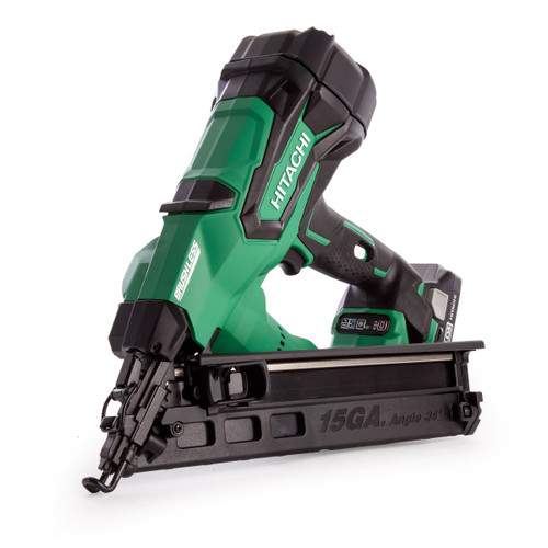 Hitachi NT1865DBAL/JX 18V 15GA Brushless Angled Finish Nailer (2 x 3.0Ah Batteries) - 6