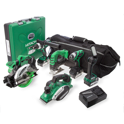 Hitachi KTL618SP2/JJ3 6 Piece 18V Cordless Li-Ion Kit with Planer and 3 x 5Ah Batteries - 7