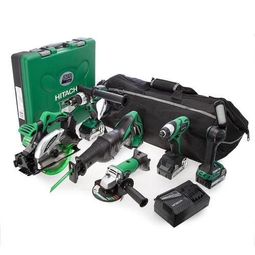 Hitachi KTL618S2/JJ3 6 Piece 18V Cordless Li-Ion Kit with Recip Saw and 3 x 5Ah Batteries - 7