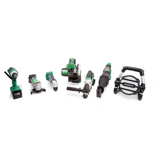 Hitachi 7 Piece 18V Cordless Kit with Charger and Large Bag (2 x 5.0Ah Batteries) - 9