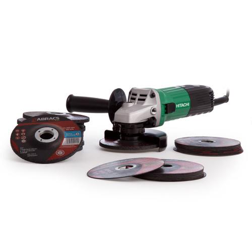 Hitachi 115mm Grinder 240V + 30 Discs - 5