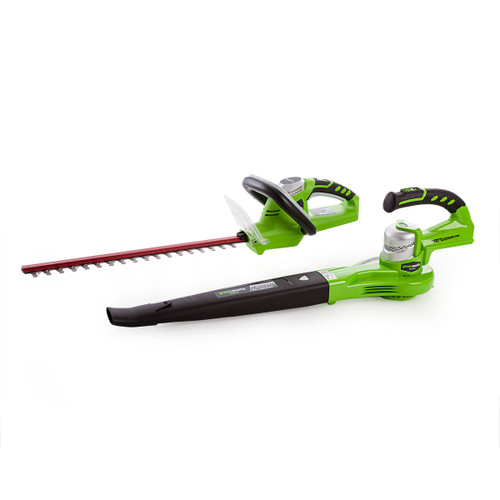 Greenworks GWTPHCB 24V Cordless Twinpack Hedgetrimmer / Blower (1 x 2.0Ah Battery) - 1