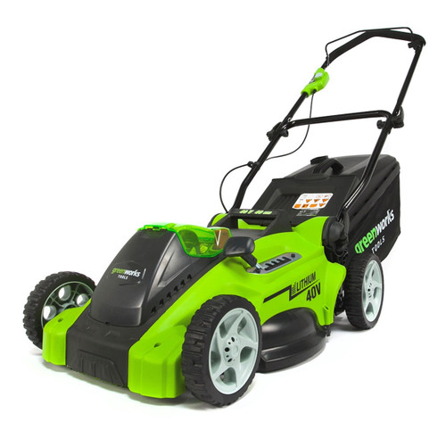 Greenworks 2500007-B 40V Lawn Mower with 4Ah Battery and Charger - 4