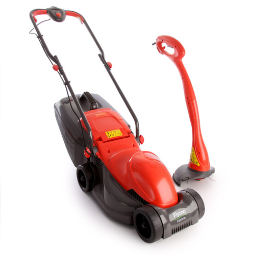Buy Flymo Easimo + Minitrim - EasiPack Electric Lawnmower and Grass Trimmer at Toolstop