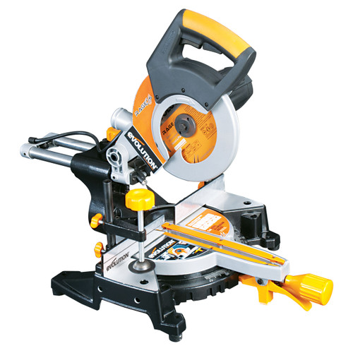 Evolution Rage 3S 210mm TCT Multipurpose Sliding Mitre Saw 110V - 6