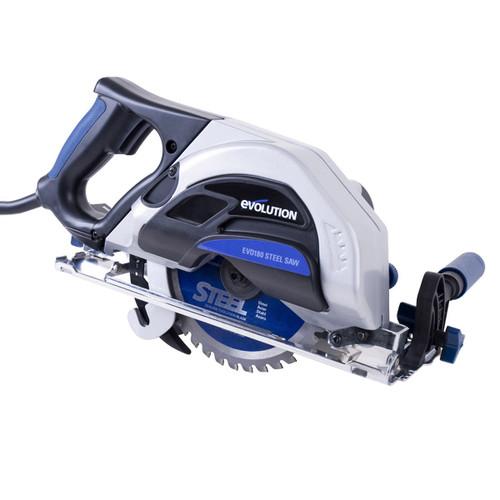 Evolution EVO180 180mm Metal Cutting Circular Saw + 2 Extra Cutting Blades 110V - 3