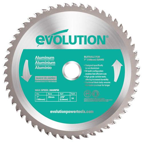 Buy Evolution EVOBLADEAL TCT Saw Blade for Aluminium 180mm x 54T at Toolstop