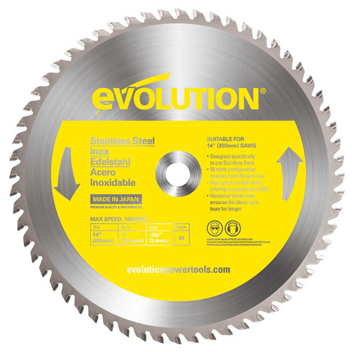 Buy Evolution 90TBLADE TCT Saw Blade for Stainless Steel 355mm x 90T at Toolstop