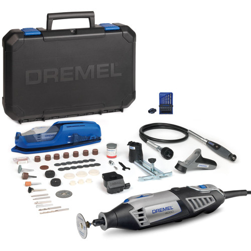 Dremel F0134000LU 4000 High Performance Multitool with 4 Attachments, 65 Accessories + 7 Piece Drill Set and Chuck - 6