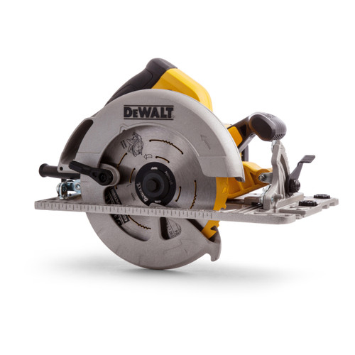Dewalt DWE576K Circular Saw 190mm (61mm DOC) with Kitbox and Guide Rail Compatible Base 240V - 5