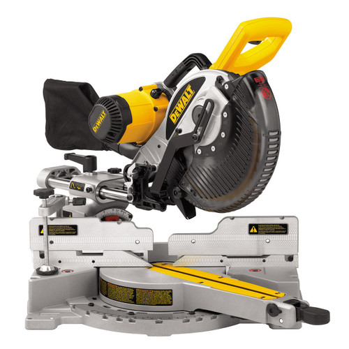 Dewalt DW717XPS Heavy Duty Double Bevel Sliding Compound Mitre Saw 254mm 240V - 6