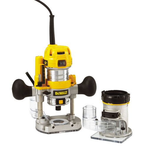 Dewalt D26204K 1/4in Combination Plunge & Fixed Base Router 240V - 3