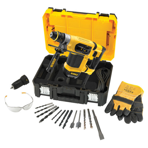 Dewalt D25414KT 32mm SDS+ Multi Drill with accessories in TSTAK Kitbox 240V - 2