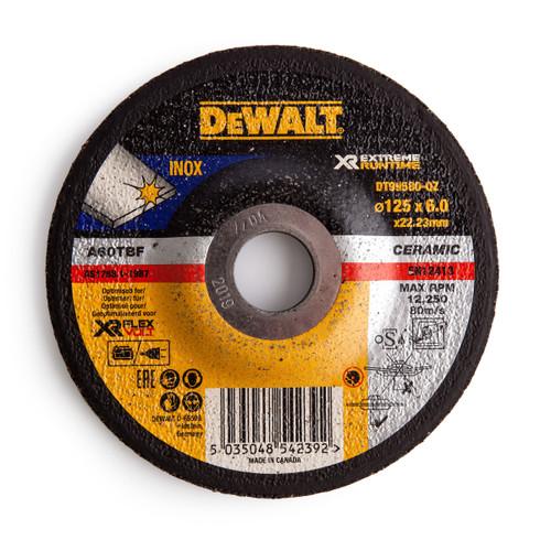 Dewalt DT99580 XR Extreme Runtime Grinder Disc 125 x 6 x 22.23mm - 1