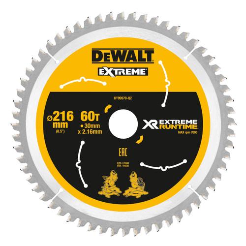 Dewalt DT99570 XR Extreme Runtime Mitre Saw Blade 216mm x 30mm x 60T - 2