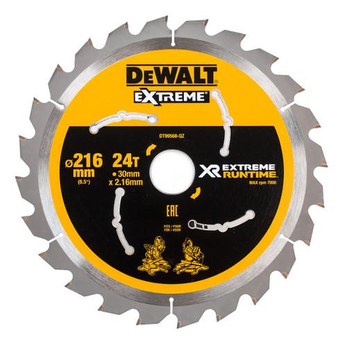 Dewalt DT99568 XR Extreme Runtime Mitre Saw Blade 216mm x 30mm x 24T - 2