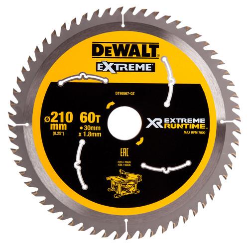 Dewalt DT99567 XR Extreme Runtime Circular Saw Blade 210mm x 30mm x 60T - 2