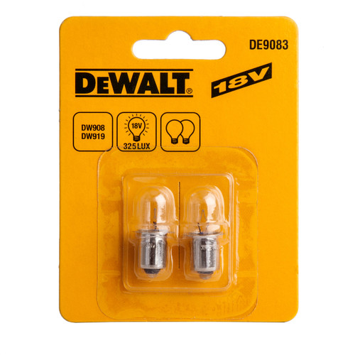 Buy Dewalt DE9083 Torch Bulbs Xenon 18V (Pack of 2) at Toolstop