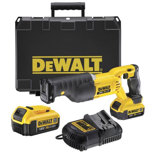Dewalt DCS380M2 18V XR Reciprocating Saw (2 x 4.0Ah Batteries) in Kitbox - 3