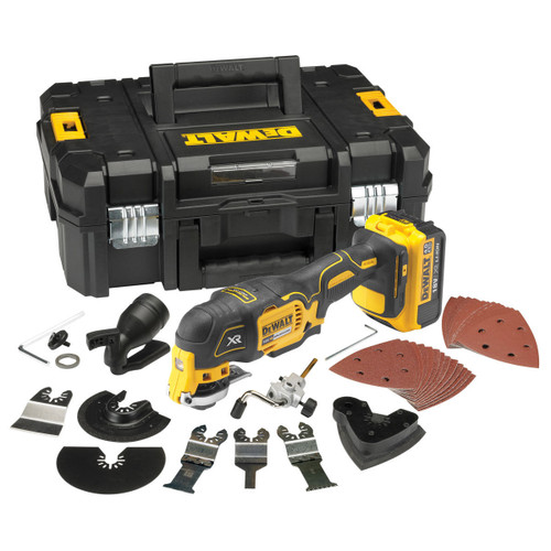 Dewalt DCS355M1 Oscillating Multi-Tool 18V li-ion Cordless Brushless (1 x 4Ah Battery) with 35 Accessories - 3