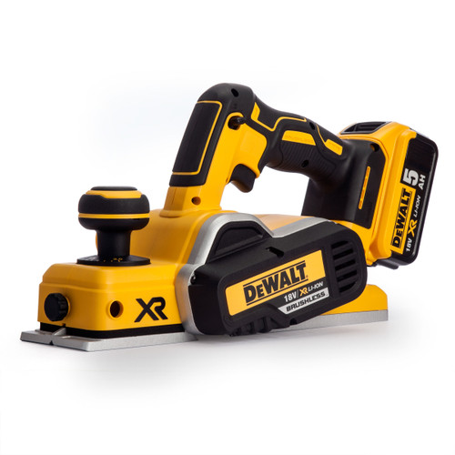 Dewalt DCP580P2 Planer Cordless Brushless 18V li-ion 82mm (2 x 5.0Ah Batteries) - 7