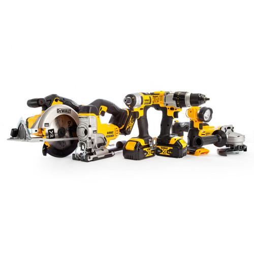 Dewalt DCK692M3 18V XR 6 Piece Kit - DCD985 Combi Drill, DCF885 Impact Driver, DCS391 Circular Saw, DCS331 Jigsaw, DCG412 Grinder & DCL040 Torch (3 x 4.0Ah Batteries) with 2 x TOUGHSYSTEM Boxes - 7